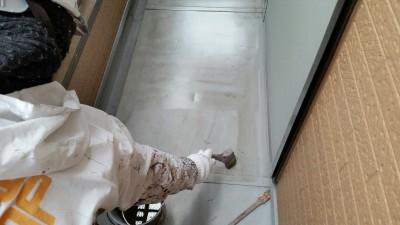 ベランダ塗膜防水1回目