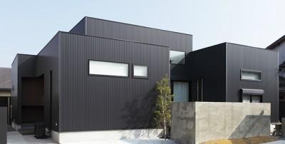 ガルバリウム鋼版_外壁施工例001