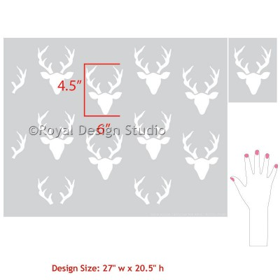 7020L-Bonnie-christine-Buck-Forest-Wall-Stencil