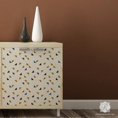 7222S_painted-dresser-table-modern-triangle-pattern