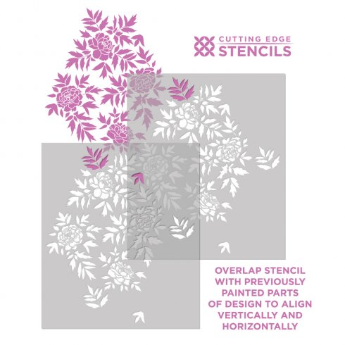 Japanese-Peonies-stenciling-instructions