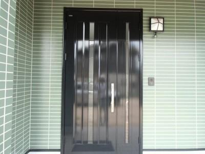 アルミ玄関ドア塗装(下関)