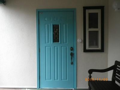 玄関ドア塗装(下関)③