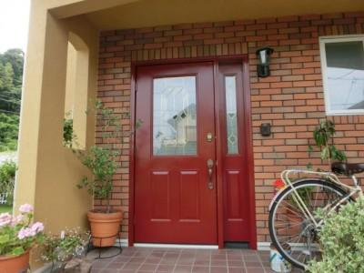 玄関ドア塗装(下関)⑤