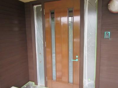 木製玄関ドア塗装(オイル・下関)