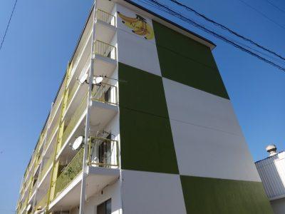 デザイン塗装 ブロック塗り分け