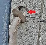 エアコン穴廻りのパテの劣化