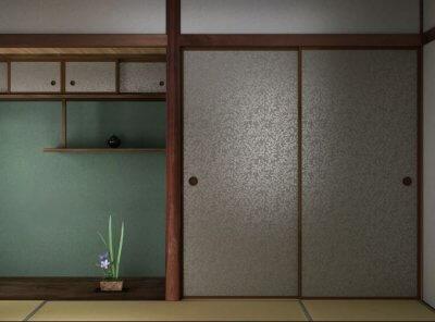 和室 ふすま 花