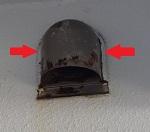 排気口廻りのシーリング劣化
