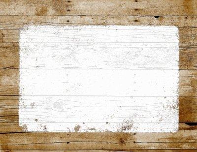 木目のヨコ看板