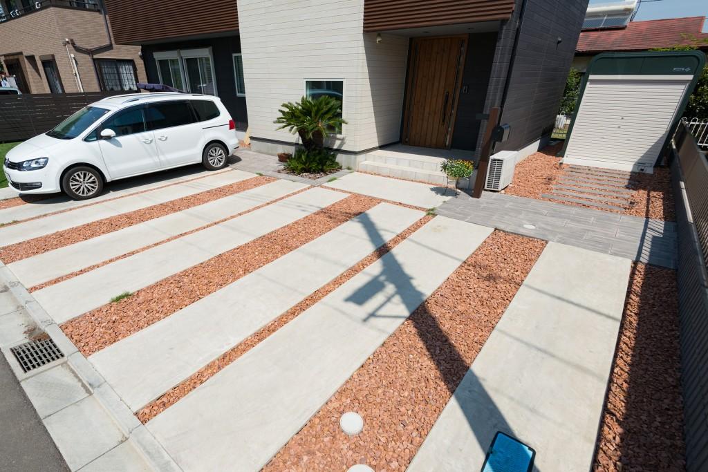 コンクリート敷面積削減