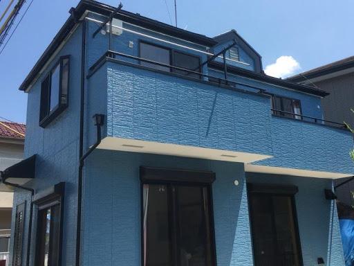 外壁塗装 紺色